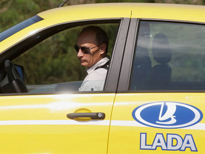 Lada jaune, adhésif covering et tuning vitre teintée voiture